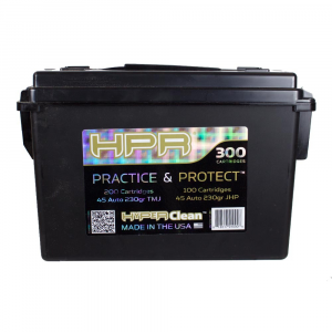 HPR Practice and Protection Handgun Ammunition .45 ACP 230 gr TMJ/JHP 200/100ct