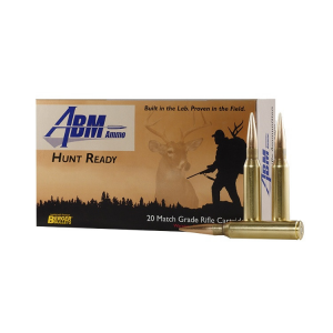 ABM Hunt Ready Berger Rifle Ammunition .300 Win Mag 168 gr OTM 3079 fps 20/ct