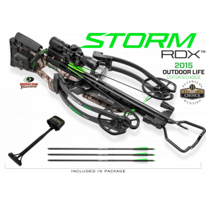 Horton Storm RDX Reverse Draw Premium Crossbow Package ACUdraw 3x Pro-View Scope – Mossy Oak Treestand