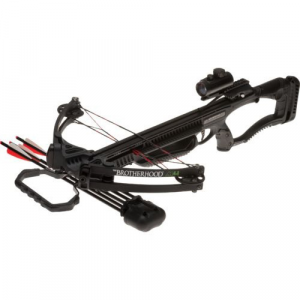 Barnett Brotherhood M4 Compound Crossbow Package with Red Dot Scope – Black