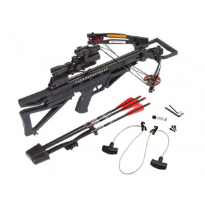 Carbon Express Intercept Varmint Crossbow Package with 4×32 Varmint Hunter Scope Laser & Light