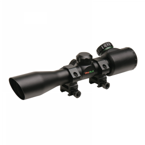 Truglo 4x32mm Crossbow Scope with Weaver Style Rings – Illuminated Dual Color Reticle Matte Black