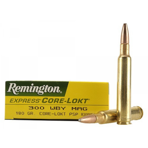 Remington Core-Lokt Rifle Ammunition .300 Wby SSB 3120 fps – 20/box