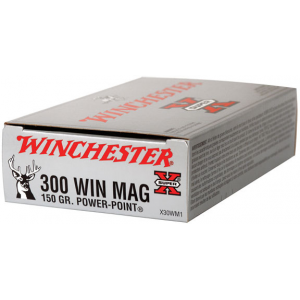 Winchester Super-X Power Point Rifle Ammunition .300 Win Mag 150 gr PSP 3290 fps – 20/box