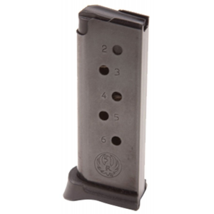 Ruger Handgun Magazine w/Extended Floorplate for LCP .380 Auto 6 rds Black