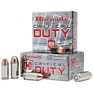 Hornady Critical Duty Handgun Ammo .45 ACP (+P) 220 gr Flex Tip 975 fps 20/box