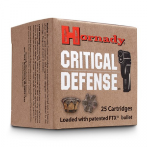 Hornady Critical Defense Handgun Ammo .32 NAA 80 gr FTX – 25/box