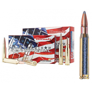 Hornady American Whitetail Rifle Ammunition .30-06 Sprg 150 gr SP 2637 fps – 20/box
