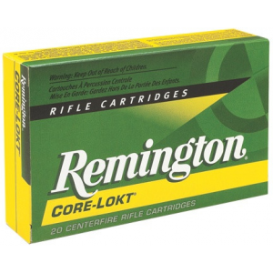 Remington Core-Lokt Rifle Ammunition .30 Rem AR 150 gr PSP 2575 fps – 20/box