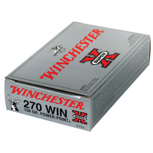 Winchester Super-X Power Point Rifle Ammunition .270 Win 150 gr PSP 2850 fps – 20/box