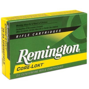 Remington Core-Lokt Rifle Ammunition .308 Win 180 gr PSP 2620 fps – 20/box