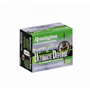 Remington Ultimate Defense Handgun Ammunition .380 ACP 102 gr BJHP 20/box