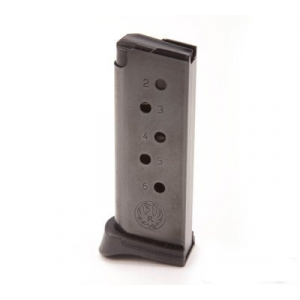 Ruger Handgun Magazine for LCP .380 Auto 6rds Black- 2pack