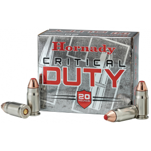 Hornady Critical Duty Handgun Ammo .357 Sig 135 gr Flex Tip 1225 fps 20/Box