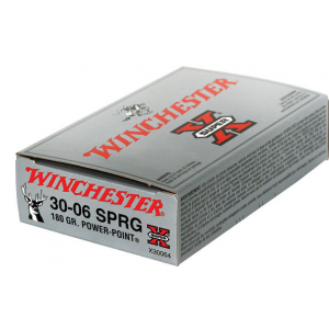 Winchester Super-X Power Point Rifle Ammunition .30-06 Sprg 180 gr PSP 2700 fps – 20/box