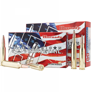 Hornady American Whitetail Rifle Ammunition 7mm 08 Rem 139 gr SP 2608 fps – 20/box