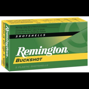 Remington Express Buckshot Shotgun Ammo 12 ga 2 3/4″ 3 3/4 dr 12 plts #0 1275 fps – 5/box
