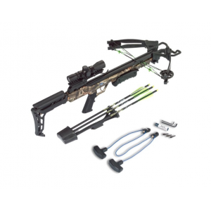 Carbon Express X-FORCE Blade Crossbow Package with 4x32mm Scope & Rope Cocker – Camo