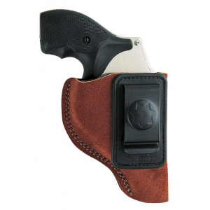Bianchi Model 6 Waistband Holster – for Glock 19, 23, 26, 27, 36, Left Hand, Rust Suede