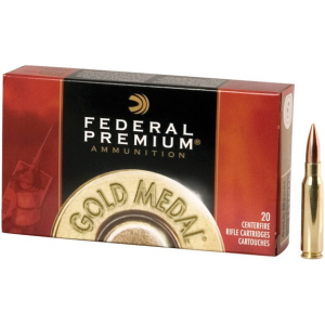 Federal Premium Gold Medal Sierra MatchKing Rifle Ammunition .30-06 Sprg 168 gr BTHP 2700 fps – 20/box