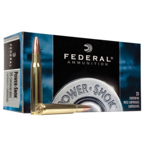 Federal Power-Shok Rifle Ammunition .30-06 Sprg 125 gr SP 3140 fps – 20/box