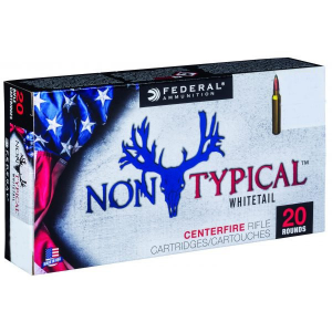 Federal Non-Typical Whitetail Rifle Ammunition 30-06 Sprg 180 gr SP 20/ct