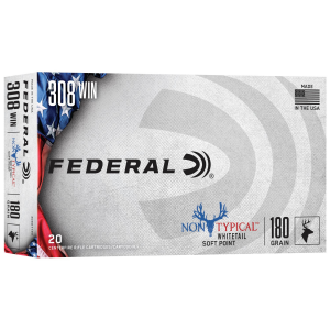 Federal Non-Typical Whitetail Rifle Ammunition .308 Win 180 gr SP 20/ct