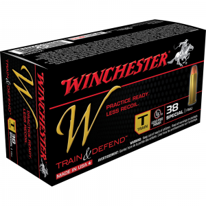 Winchester W Train & Defend Handgun Ammunition .38 Special 130 gr FMJ 50/ct
