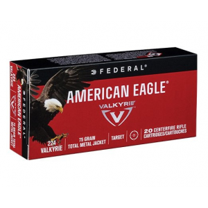 American Eagle Rifle Ammunition .224 Valkyrie 75gr 3000 fps TMJ 20/ct
