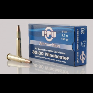 PPU Rifle Ammunition .30-30 Win 150 gr FNSP 2300 fps 20/ct