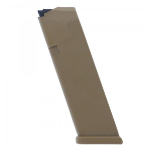 Glock Gen5 Factory Magazine G17 G17L G19 G19X G26 G34 9mm Luger – Coyote 17/rd