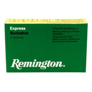Remington Express Magnum Buckshot Shotgun Ammo 12 ga 3″ 4 dr 10 plts #000 1225 fps – 5/box