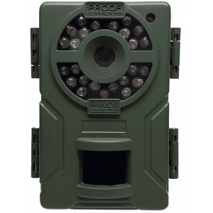 Primos Mugshot Trail Camera with Low Glow IR Flash – 12MP OD Green