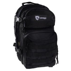 """Drago Gear Scout Backpack 1-day Pack 16"""" x 10"""" x 10"""" - Black"""