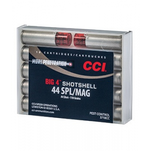 CCI Big 4 Handgun Shotshell Ammunition .44 spl/Mag #4 1000 fps 10/ct