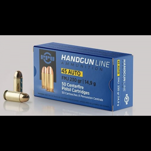 PPU Handgun Ammunition .45 ACP 230 gr FMJ 836 fps 50/ct