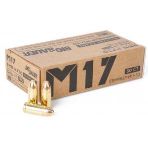 Sig Sauer Elite Ball M17 Handgun Ammunition 9mm Luger 124 gr FMJ 1198 fps 50/ct thumbnail