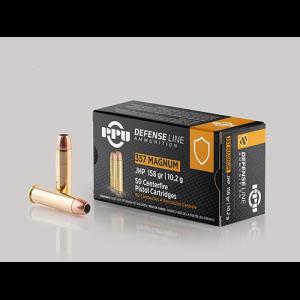 PPU Handgun Defense Ammunition .357 Magnum JHP 158gr 1607 fps 50/ct