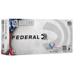 Federal Non-Typical Whitetail Rifle Ammunition .450 Bushmaster 300 gr SP 1900 fps 20/ct