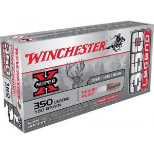Winchester Super-X Rifle Ammunition 350 Legend 180 grain PSP 2100 fps 20/ct