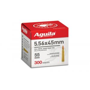 Aguila Rifle Ammunition 5.56mm 55gr FMJBT 3260 fps 300/ct (Bulk)