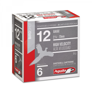 Aguila High Velocity Field Shotshells 12 ga 2-3/4″ 1-1/4oz 1330 fps #7.5 25/ct