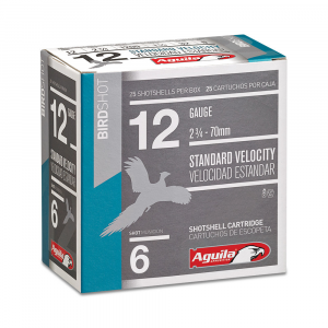 Aguila Field Shotshells 12 ga 2-3/4″ 1-1/8oz 1200 fps #8 25/ct