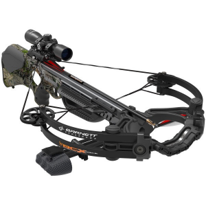 Barnett Buck Commander Extreme (BCX) Crossbow Package with Premium illuminated Scope – HD Camo