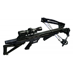 Carbon Express Supercoil LT Crossbow Package with Deluxe Lighted 4x32mm Scope, Kryptek Typhon