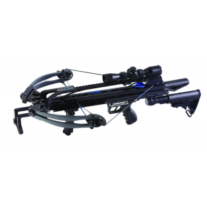 Carbon Express Intercept Axon AR-Style Crossbow Package with 4×32 Glass Etched Reticle Lighted Scope – Carbon Black