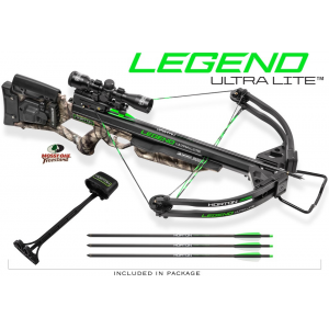 Horton Legend Ultra Lite Crossbow Package with 4×32 Multi-Line Scope / 3 Carbon Arrows / Quiver / AcuDraw 50