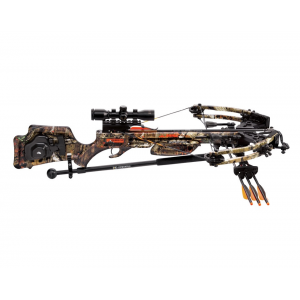 Wicked Ridge Raider CLS Premium Crossbow Pkg with 3x Multi-Line Scope and ACU-52 Cocking System – Mossy Oak Breakup Infinity
