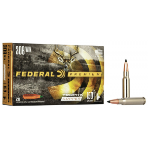 Federal Premium Vital-Shok Rifle Ammunition .308 Win 150 gr TC 2820 fps – 20/box