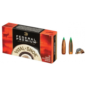 Federal Premium Vital-Shok Rifle Ammunition .30-06 Sprg 165 gr BT 2800 fps – 20/box